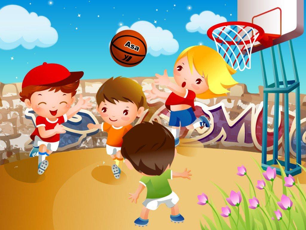 Картинки спорт летом для детей